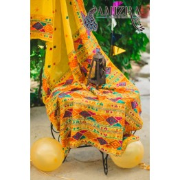 PHULKARI-CELEBRATION/MUSTARD