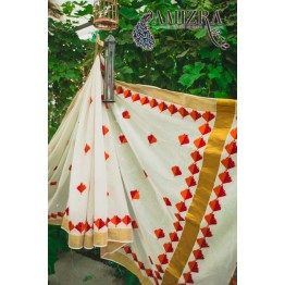 PHULKARI-WHITE GOLD
