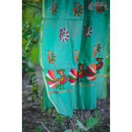 PHULKARI-PEACOCK DANCE/OLIVE GREEN